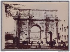 Arco di Costantino Photo originale XIX ème  albuminée     c555