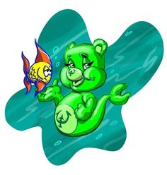 After going to Burger King and get a CARE BEAR figure and NOT a VOLTRON because we weren't given much of a choice.... SO I was inspired to try a CARE BEAR MERMAID. it is probably one of the cutiest...