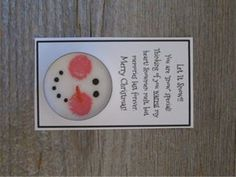 These snowman candles are each made from a tea light candle with a snowman face…
