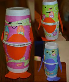 Dixie Cup Penguin Shakers Craft