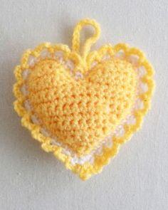 Heart Sachet  Free Patttern   Original Design By: Maggie Weldo