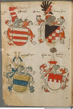 Tirol, Anton: Wappenbuch Süddeutschland, Ende 15. Jh. - 1540 Cod.icon. 310 Folio 73v