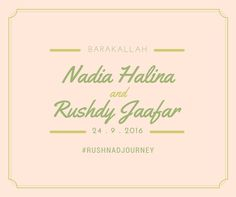 Poster Print | #Rushnadjourney Wedding