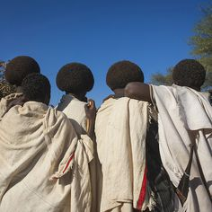 Afro hairstyles in Gada ceremony in Karrayyu tribe - Ethiopia