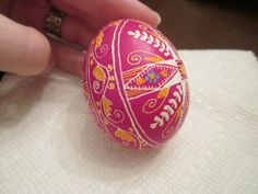 Ukrainian Easter egg decorating-- they are so beautiful