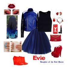 Evie❤️❤️ Disney Themed Outfits, Disney Bound Outfits, Girly Outfits, Cool Outfits, Fashion Outfits, Evie Costume Descendants, Disney Descendants, Disney Inspired Fashion, Inspired Outfits