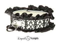 #black #satin and #patent-leather #collar
