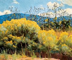 """Chamisa in Bloom"" E. Martin Hennings (1886-1956)"