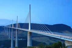 Millau Bridge [officially Millau Viaduct] is a road-bridge spanning the valley from the River Tarn near Millau in  southern France.