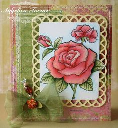 Card designed with stamps from Heartfelt Creations by Angelica Turner