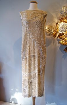 Gatsby Dress // Vintage Flapper Dress Beaded 20s by xtabayvintage, $398.00