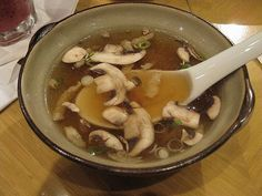 Japanese hibachi soup. Made this for the girls tonight. Huge hit! They said it tastes almost the same as Fuji's. Sophia wanted more mushrooms in hers.