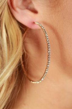 Front And Center Hoop Earrings in Gold