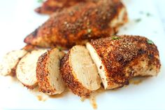 Baked Cajun Chicken Breasts Recipe Main Dishes with salt, cayenne pepper, red pepper, garlic powder, paprika, pepper, onion powder, dried oregano, dried thyme, chicken breasts