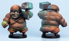 Bjor of Oros miniature painted by Jen Haley.