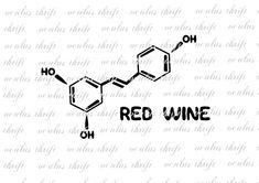 Red Wine Molecule SVG - Silhouette Cut File