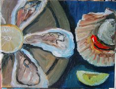 Flower of the sea - one of my new pieces for the Oyster Festival at Carron Restaurant this weekend Oyster Festival, Screen Shot, Art Decor, Seafood, My Etsy Shop, Fine Art, The Originals, Artist, Painting
