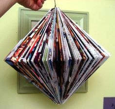 Another folded magazine hanging decoration! by Essi
