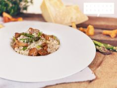 Classic Risotto with Asparagus and Chanterelle