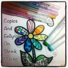 Plucking Daisies Coloring Shrink Plastic