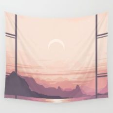 Wall Tapestry featuring Bay View by LIONESS