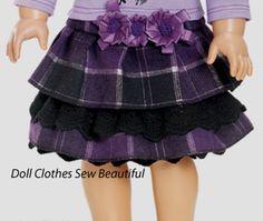 Purple and black layered skirt.