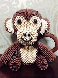 Origami Monkey Give This Cute To Your Special Friend It Is About 12 Inches Tall And Wide