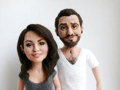 Que creepy, pero se ve bien. Personalized needle felted doll / Free shipping por FforFelt, $230.00