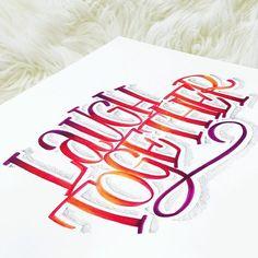 Incredible blending lettering using Dual Brush Pens Calligraphy Quotes, Script Lettering, Lettering Styles, Calligraphy Letters, Brush Lettering, Lettering Design, Caligraphy, Bullet Journal Font, Journal Fonts