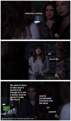 ok so fitz... || Jemma Simmons, Melinda May, Skye, Leo Fitz || Agents of Frickle Frackle 2x11 Recap || #fanedit #humor
