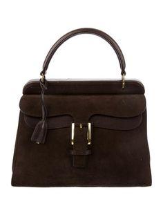 Gucci Suede Top Handle Bag