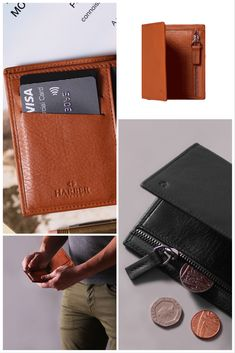 81c641d480db Leather Bifold Zip Wallet with RFID Protection. Harber London