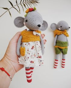 54 super Ideas for baby crochet outfits mice Crochet Animal Amigurumi, Crochet Mouse, Crochet Animal Patterns, Stuffed Animal Patterns, Amigurumi Patterns, Crochet Dolls, Kawaii Crochet, Cute Crochet, Crochet Baby
