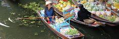 Rund um Bangkok gibt es mehr als 50 schwimmende Märkte. Hier findest du die 10 besten Floating Markets für jeden Geschmack. Der Besuch eines schwimmenden M