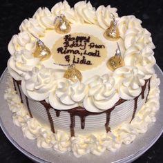 Fresh cream vanilla bean cake.