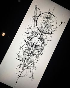 deer skull tattoo with flowers . deer skull tattoo for men . deer skull tattoos for women . Paar Tattoos, Neue Tattoos, Body Art Tattoos, Sleeve Tattoos, Tatoos, Tattoo Drawings, Tattoo Sleeves, Tattoo Sketches, Trendy Tattoos