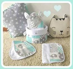 Melinterest Argentina. Ajuar Bebé Cesto Organizador Pañal+ Toallon+dos Babitas Elephant Themed Nursery, Baby Deco, Expecting Mom Gifts, Kit Bebe, Baby Bedroom, Baby Store, Handmade Baby, Baby Sewing, Fabric Patterns
