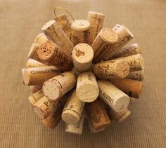 Wine Cork Ball with step-by-step instructions on how to make it!