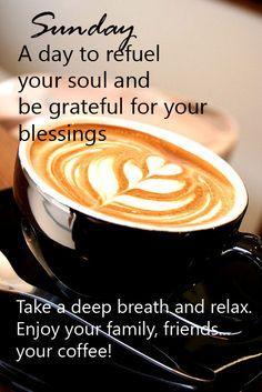 Enjoy your Sunday coffee!