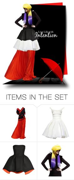 """""""Untitled #52"""" by ladynena ❤ liked on Polyvore featuring art, purple, black, red, doll and ladynena"""