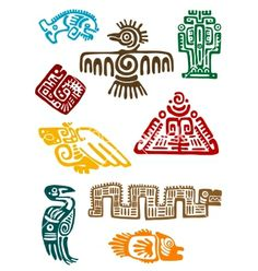 Ancient maya monsters vector 2045678 - by Buchan on VectorStock®