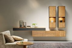 Individually designed – living room combination from the puro model in mountain spruce from … - TV Unit Ideas Modern Living Room Colors, Best Living Room Design, Living Room Tv Unit Designs, Living Room Trends, Elegant Living Room, Home Living Room, Living Room Decor, Tv Unit Decor, Tv Wall Decor
