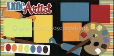 Little Artist Scrapbook Page Kit