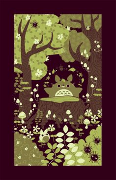 Totoro might be just a Japanese movie for some, but for most he's just a classic of oriental animation made by the genius Hayao Miyazaki. Hayao Miyazaki, Illustrations, Illustration Art, Le Vent Se Leve, Studio Ghibli Movies, Howls Moving Castle, My Neighbor Totoro, Beautiful Drawings, Manga Anime