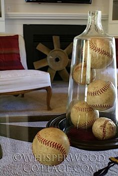 Baseball Themed Sitting Room Design, Pictures, Remodel, Decor and Ideas