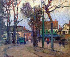 Paul Cornoyer (1864-1923) - A Village Street