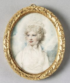 Princess Mary, Duchess of Gloucester, miniature by Richard Cosway. Watercolor on ivory. (1795)