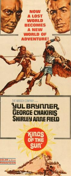 Kings of the Sun (1963) Original Insert Movie Poster