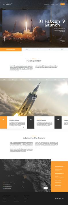 Space X // About Us Page on Behance