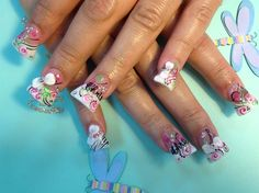 3D bow w/ french tips